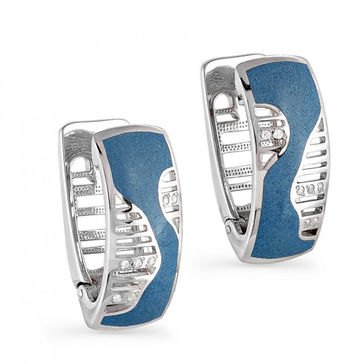 Серьги 12-020-8103 серебро