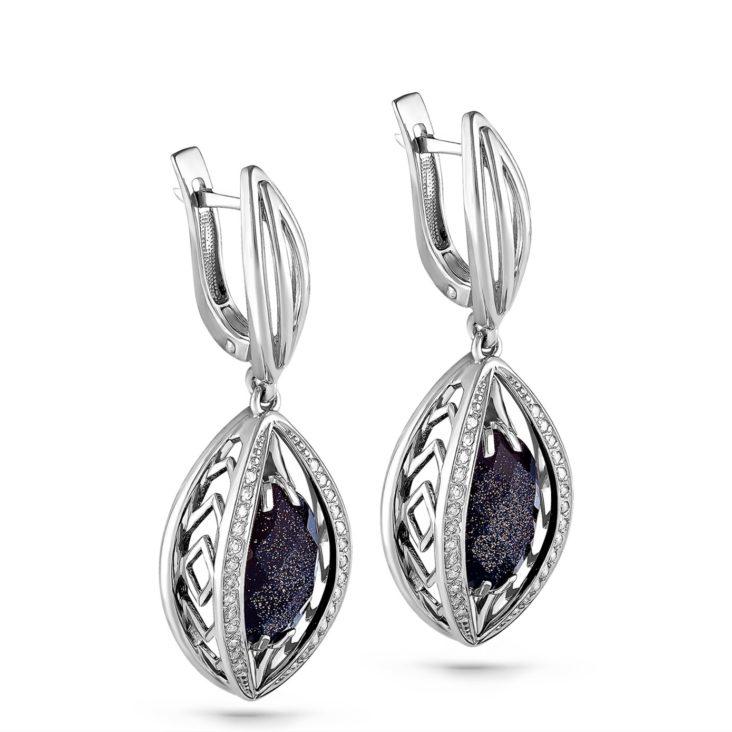 Серьги 12-067-1300 серебро