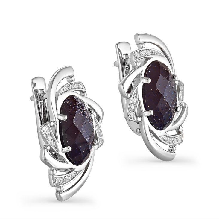 Серьги 12-066-1300 серебро