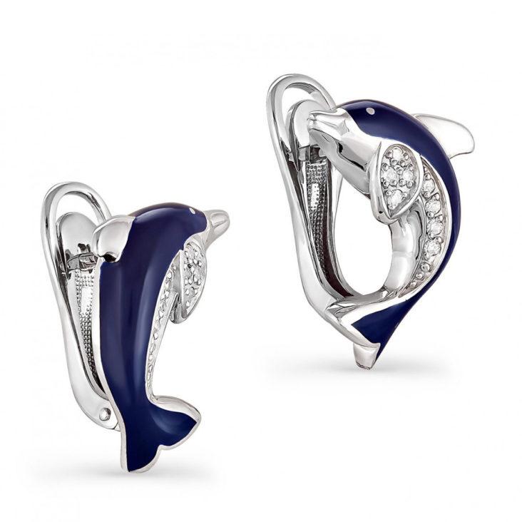 Серьги 12-018-8107 серебро
