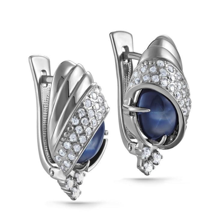 Серьги 12-208-1400 серебро