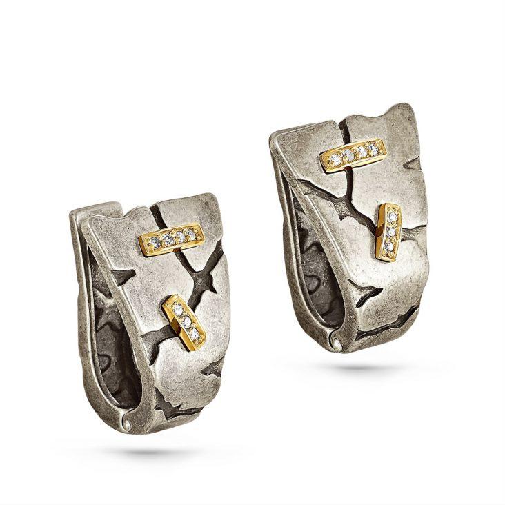 Серьги 2-035-1098 серебро