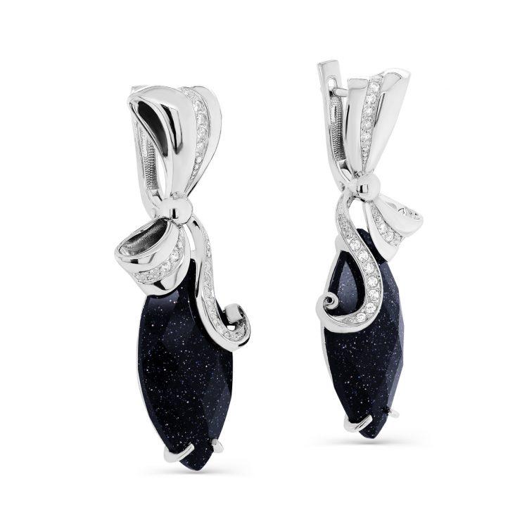 Серьги 12-265-1300 серебро
