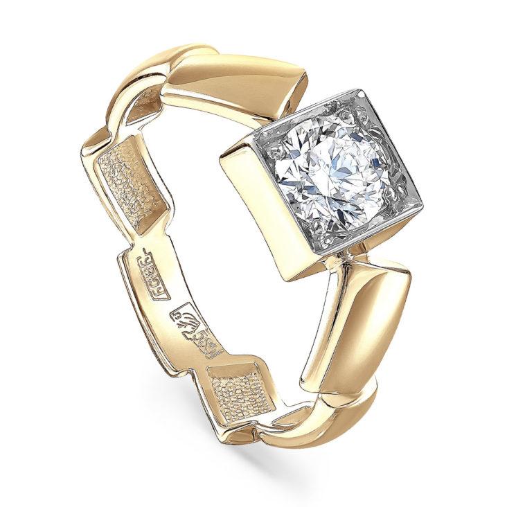 Кольцо 1-2500-1000 золото