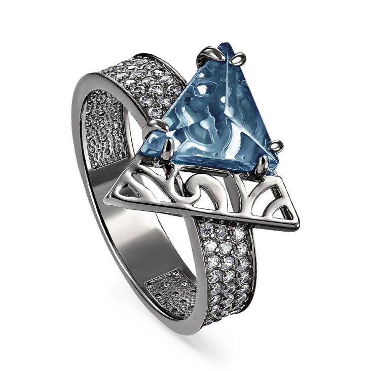 Кольцо 11-180-52189 серебро