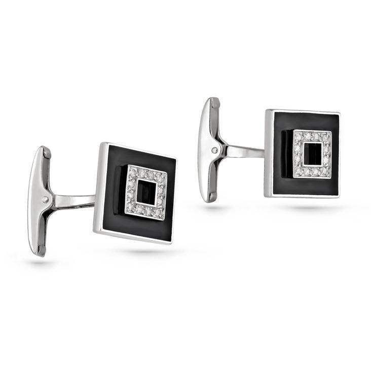 Запонки 17-139-7902 серебро