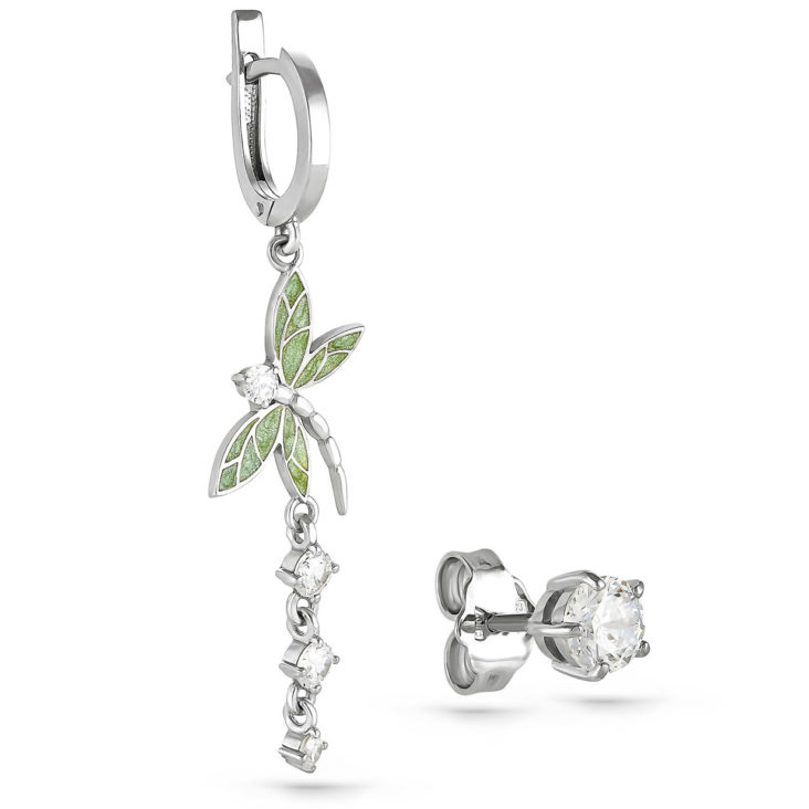 Серьги 12-116-8101 серебро