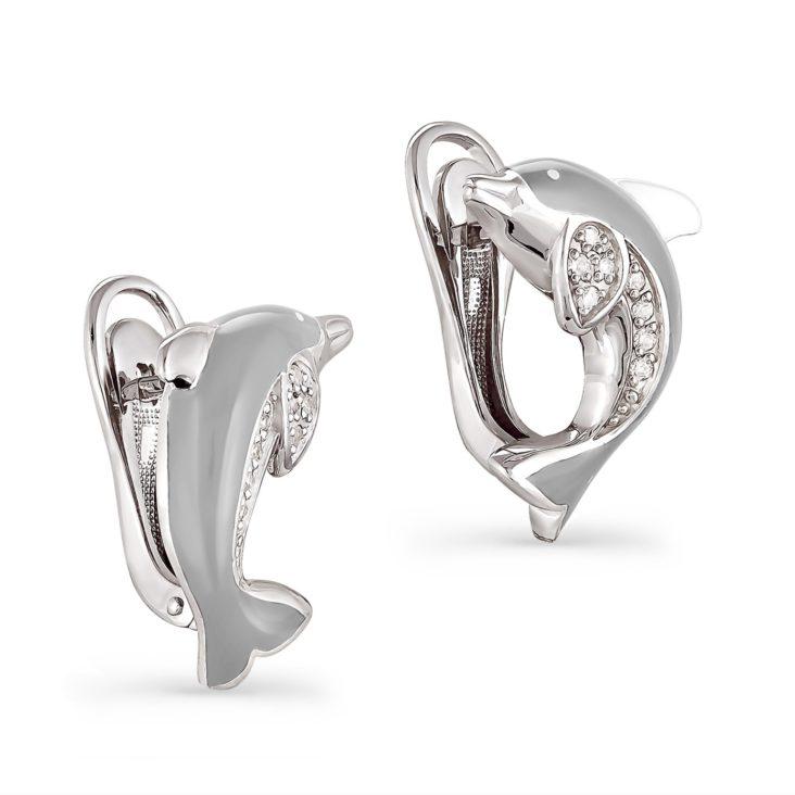 Серьги 12-018-8119 серебро