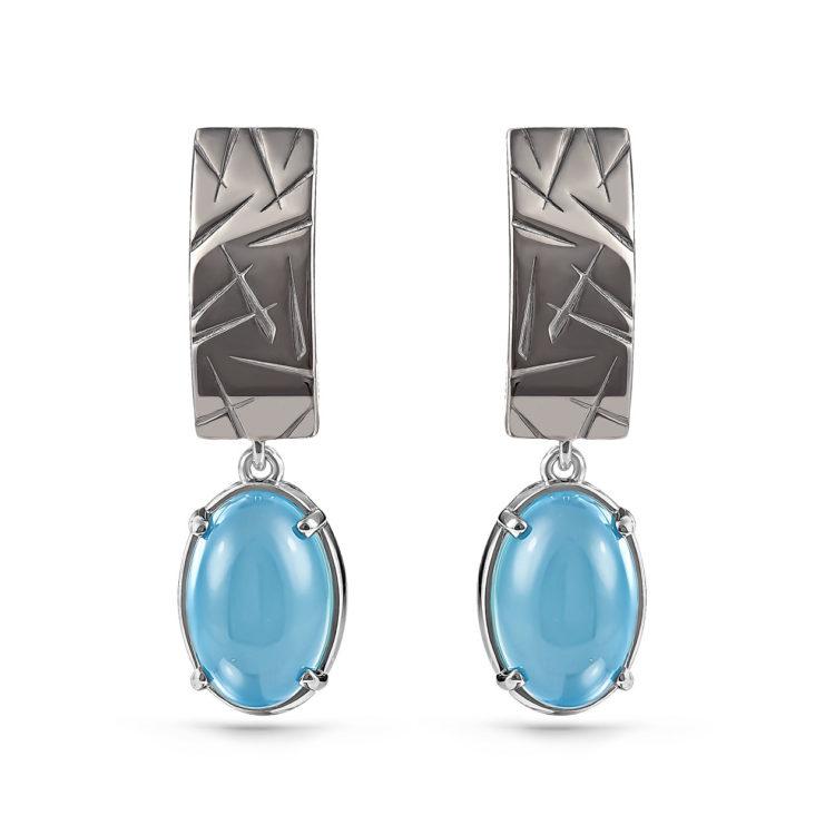 Серьги 12-190-8000 серебро
