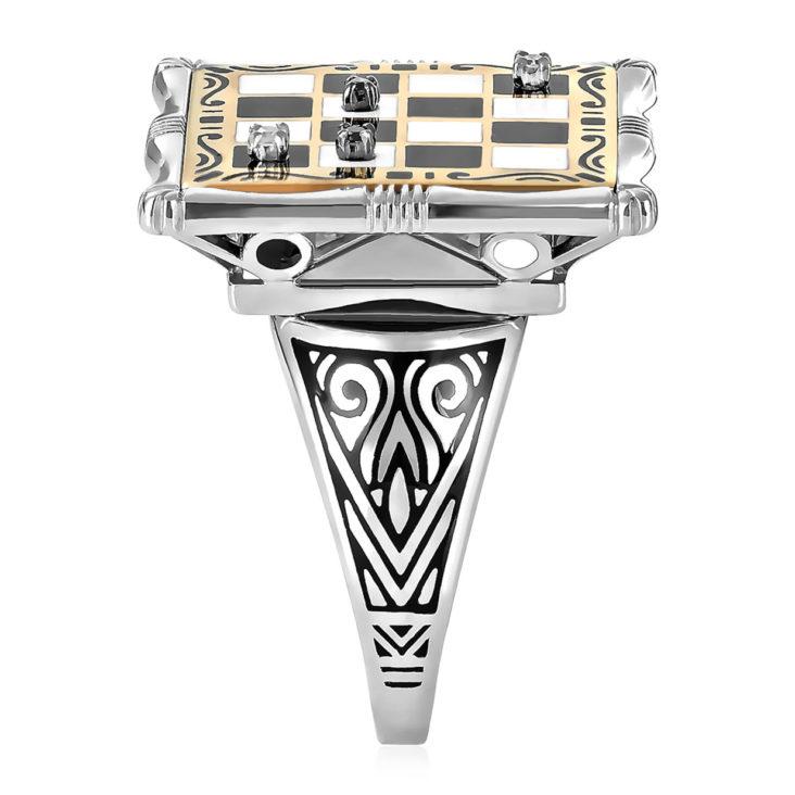Кольцо 11-216-2001 серебро