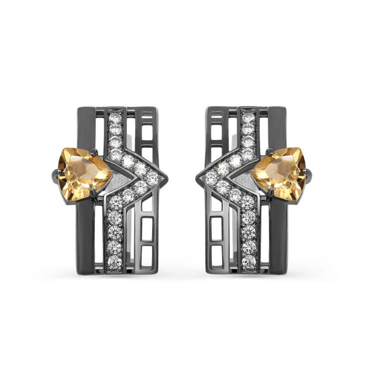 Серьги 2-058-2989 серебро