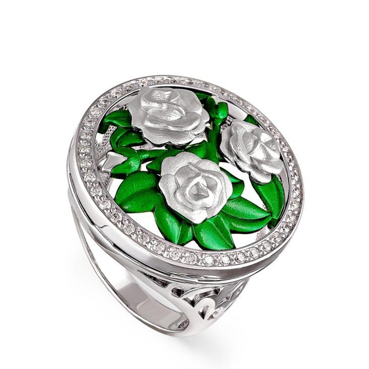 Кольцо 1-008-8100 серебро