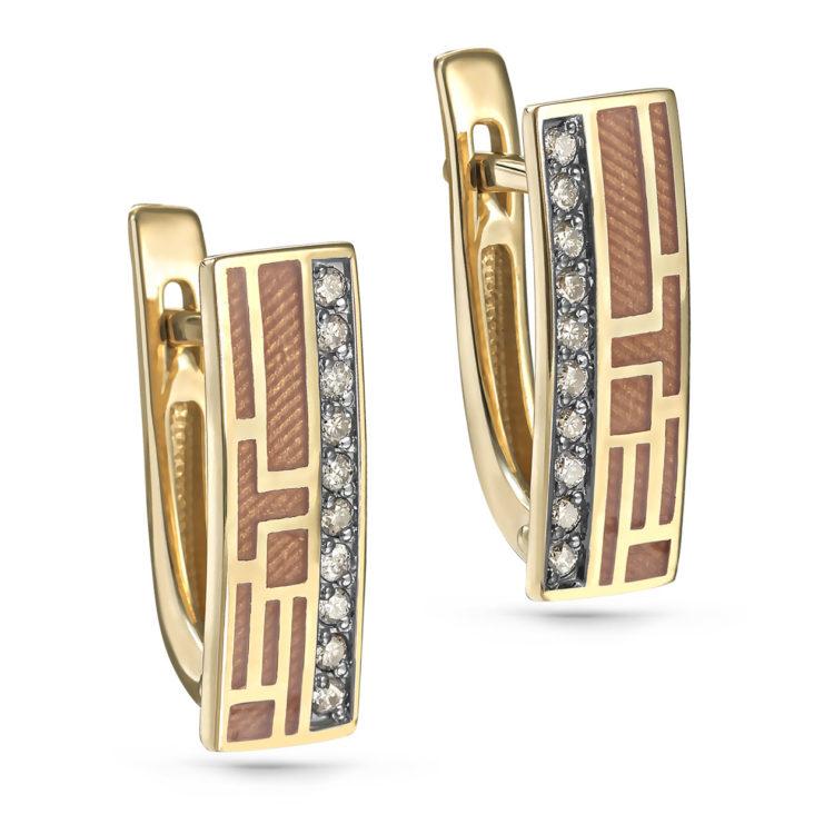 Серьги 12-21261-6025 золото