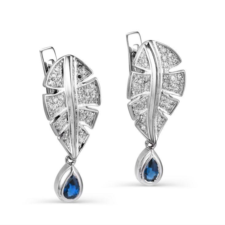 Серьги 12-086-8200 серебро