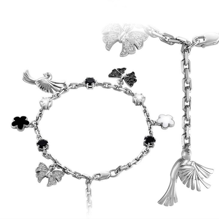 Браслет 14-119-0901 серебро