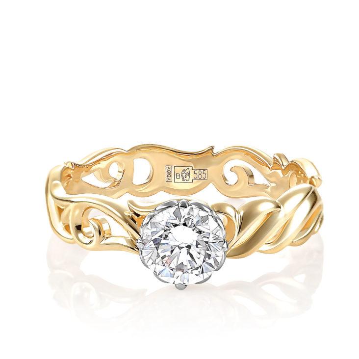 Кольцо 1-2504-1000 золото