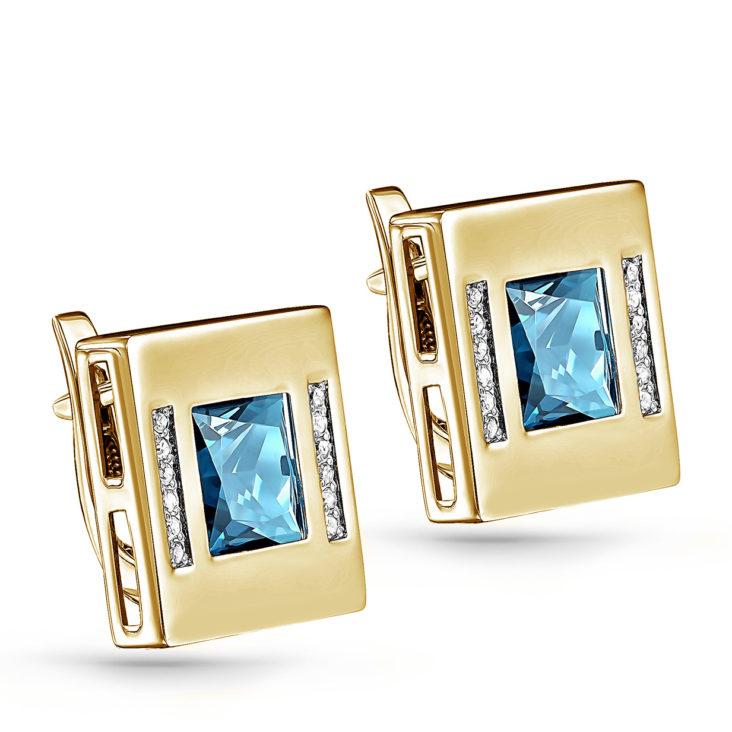 Серьги 12-21181-2300 золото