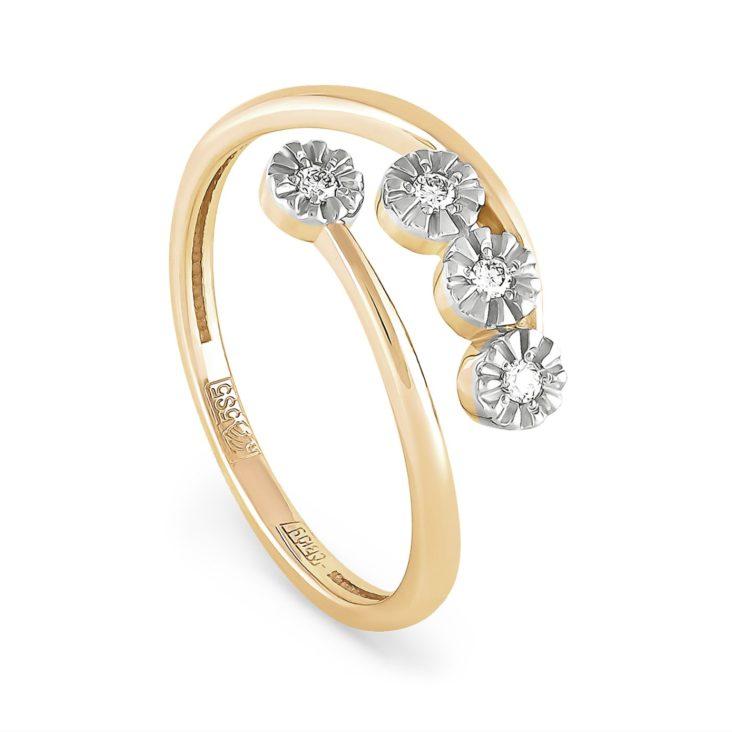Кольцо 1-2381-1000 золото