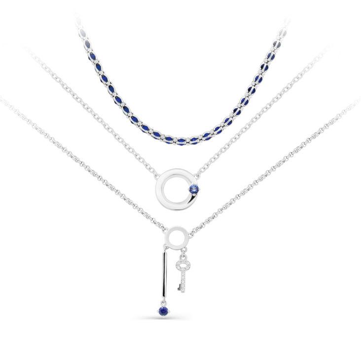Колье 6-024-8100 серебро