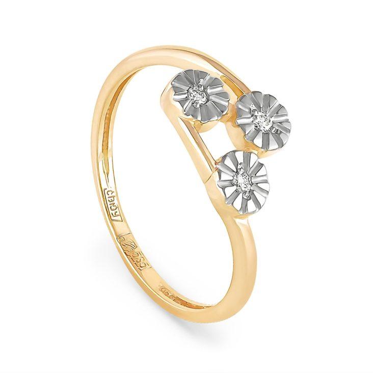 Кольцо 1-2382-1000 золото