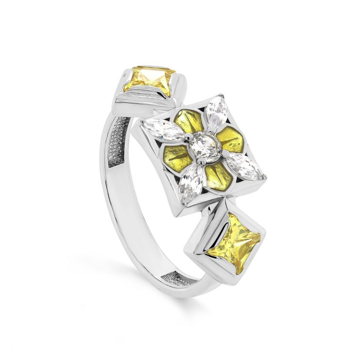 Кольцо 11-319-0112 серебро