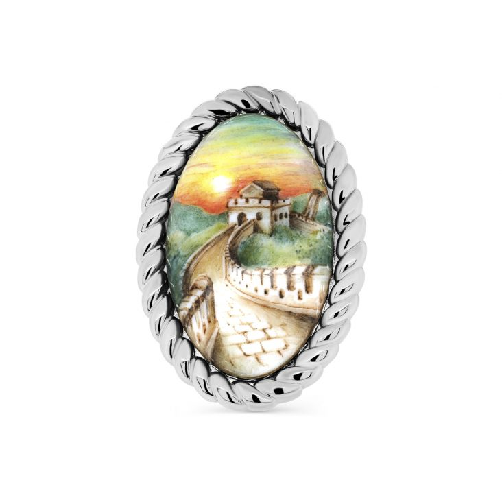 Брошь 5-046-0022 серебро