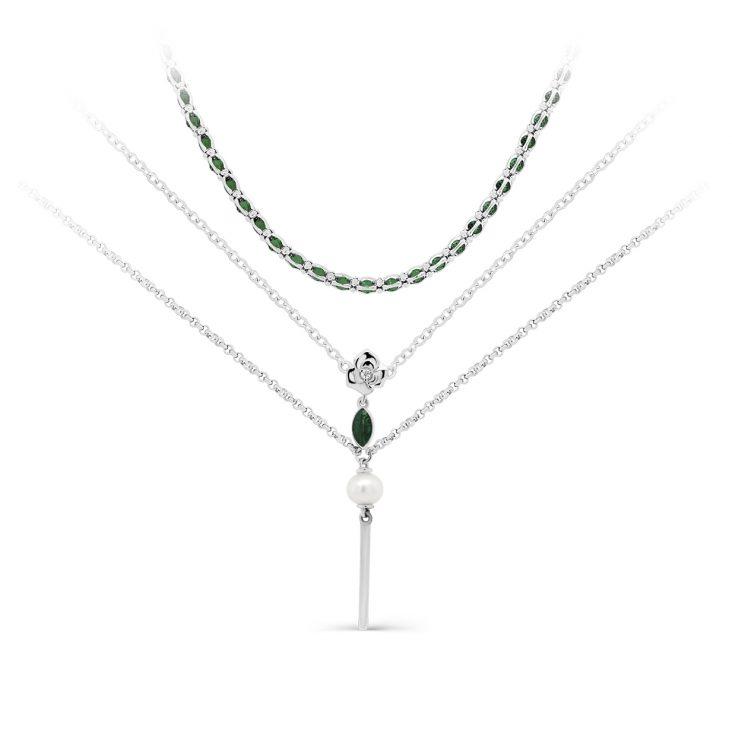 Колье 6-022-8113 серебро
