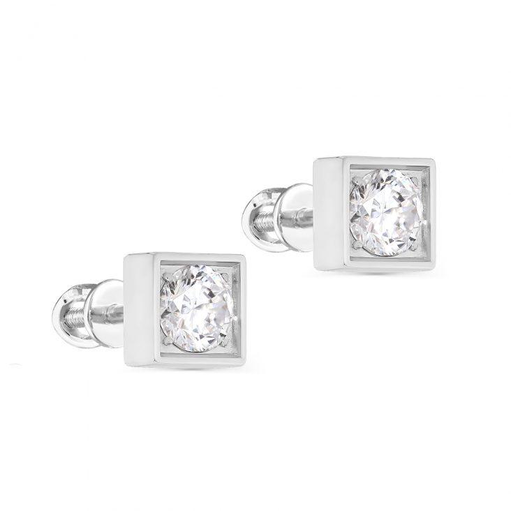 Пусеты 2-081-7900 серебро