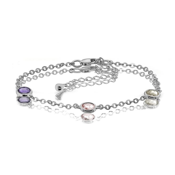 Браслет 14-308-0200 серебро