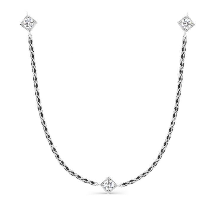 Колье 6-027-8100 серебро