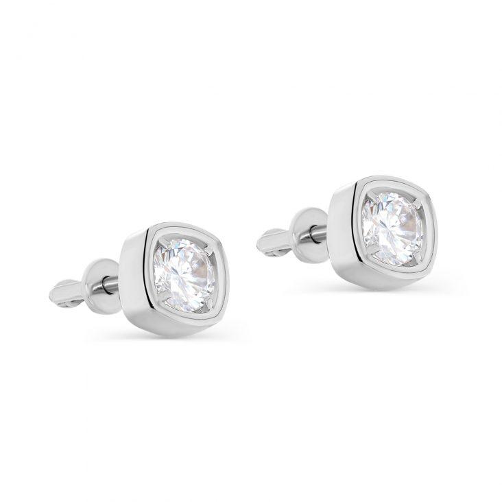 Пусеты 12-340-7900 серебро