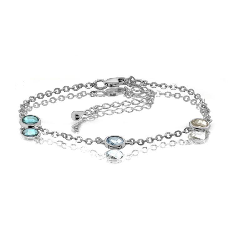 Браслет 14-308-0100 серебро
