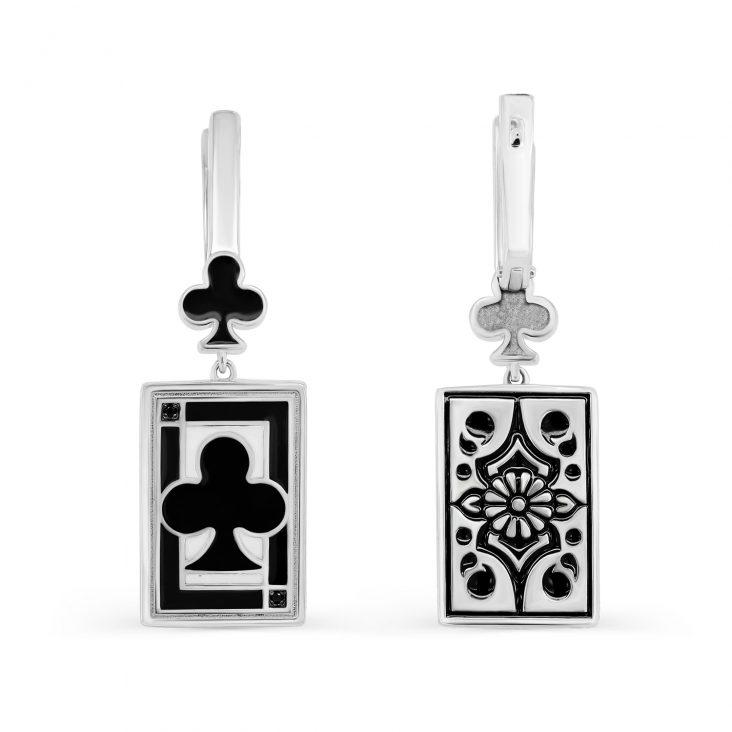 Серьги 2-095-41001 серебро