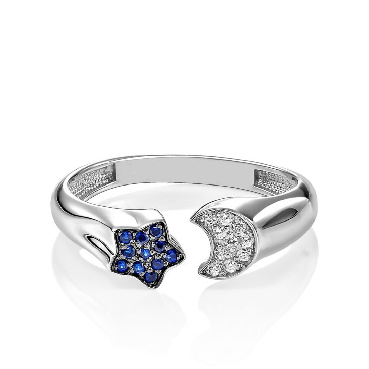 Кольцо 1-046-7989 серебро