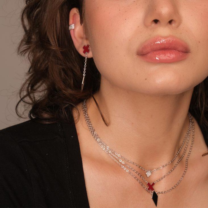 Серьга 12-365-7901 серебро
