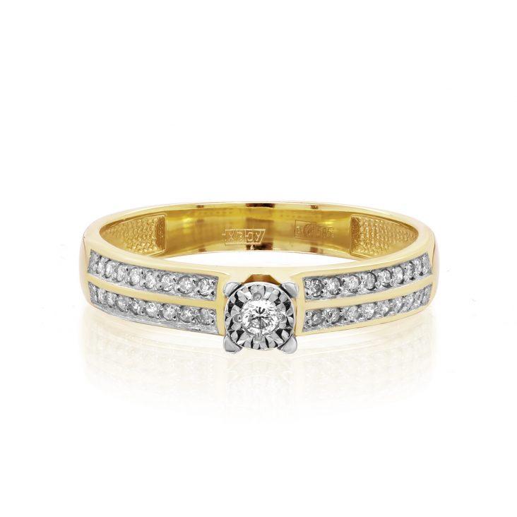 Кольцо>Кольцо,11-21436-1000,Золото>Желтое/лимонное золото
