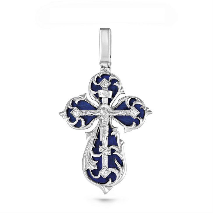 Подвеска>Крест,3-078-7907,Серебро